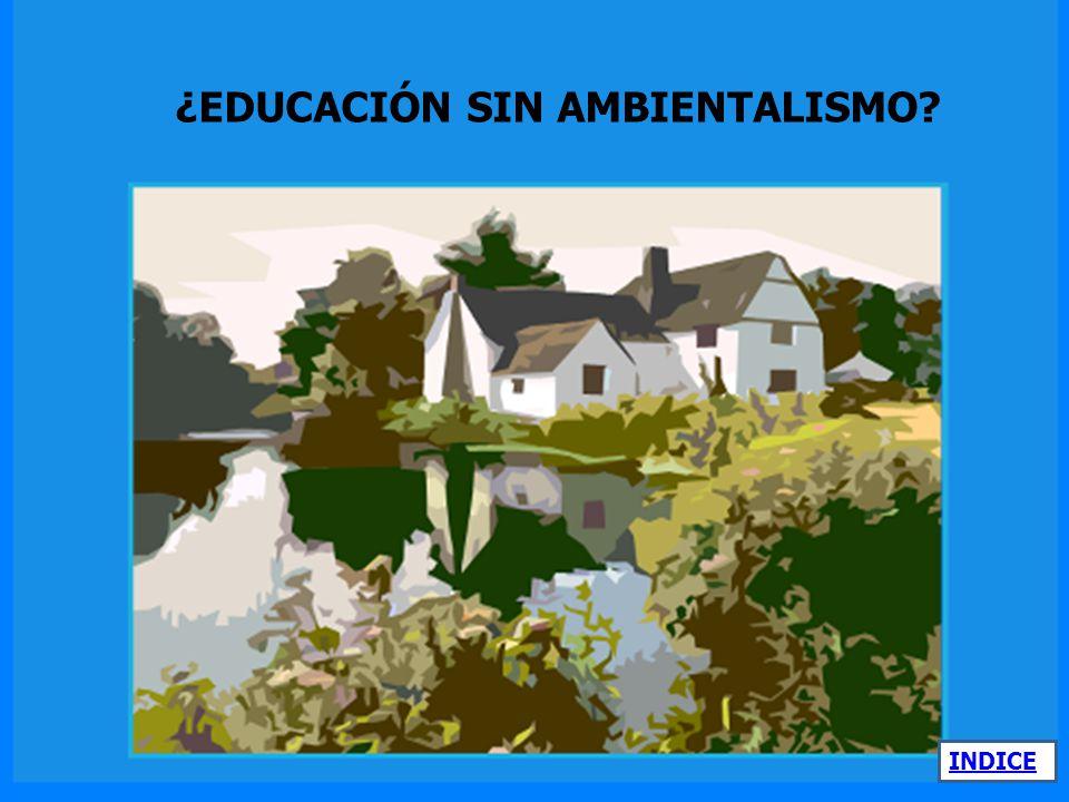 ¿EDUCACIÓN SIN AMBIENTALISMO