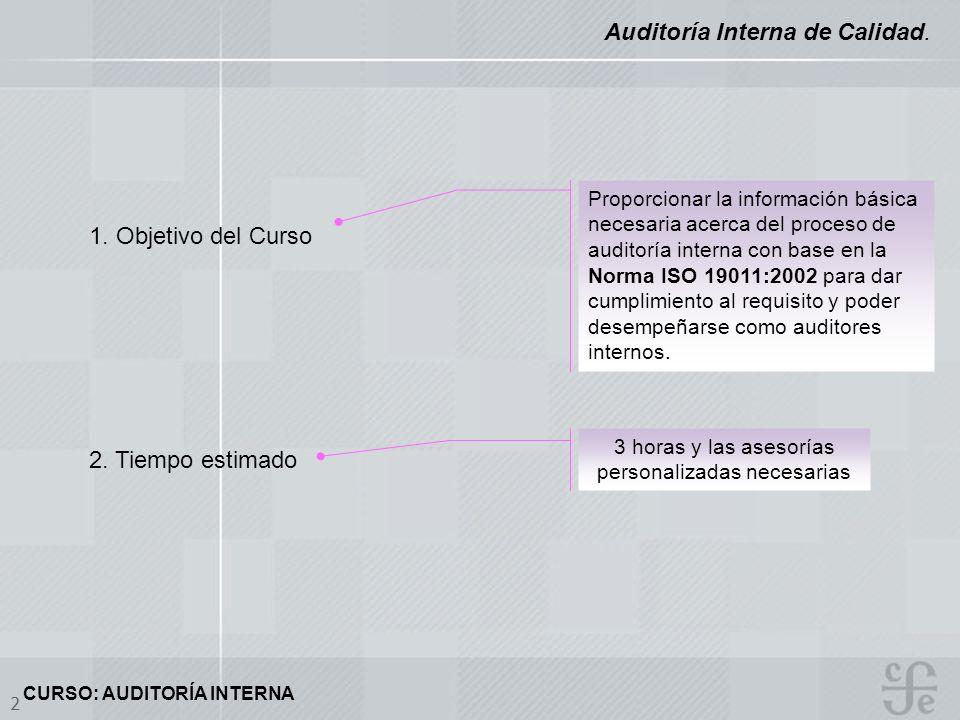Auditoría Interna de Calidad.