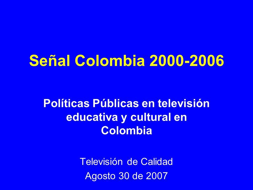 Políticas Públicas en televisión educativa y cultural en Colombia