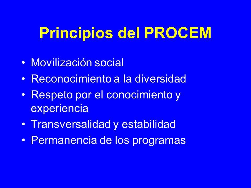 Principios del PROCEM Movilización social