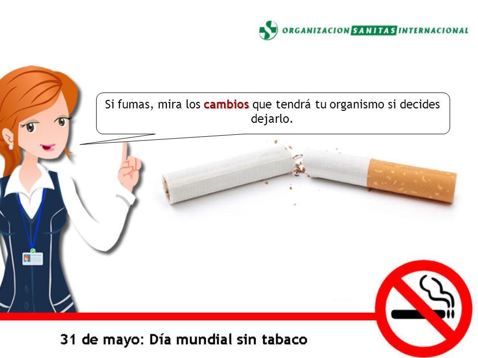 Si fumas, mira los cambios que tendrá tu organismo si decides dejarlo.