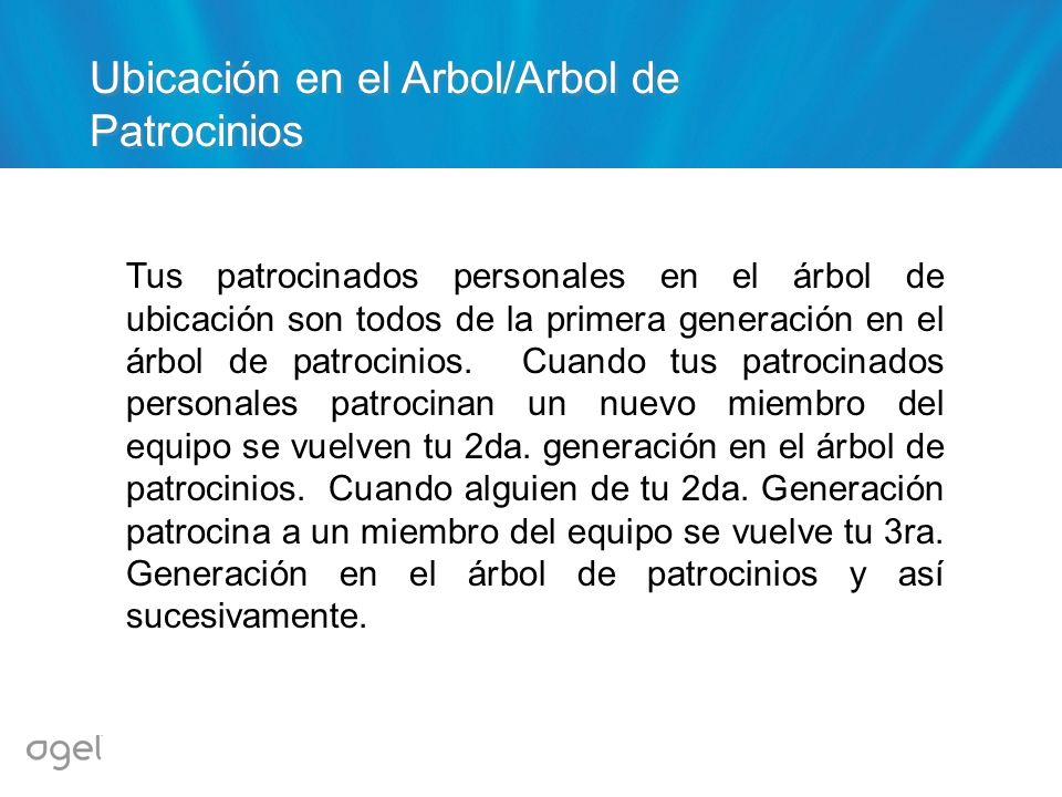 Ubicación en el Arbol/Arbol de Patrocinios