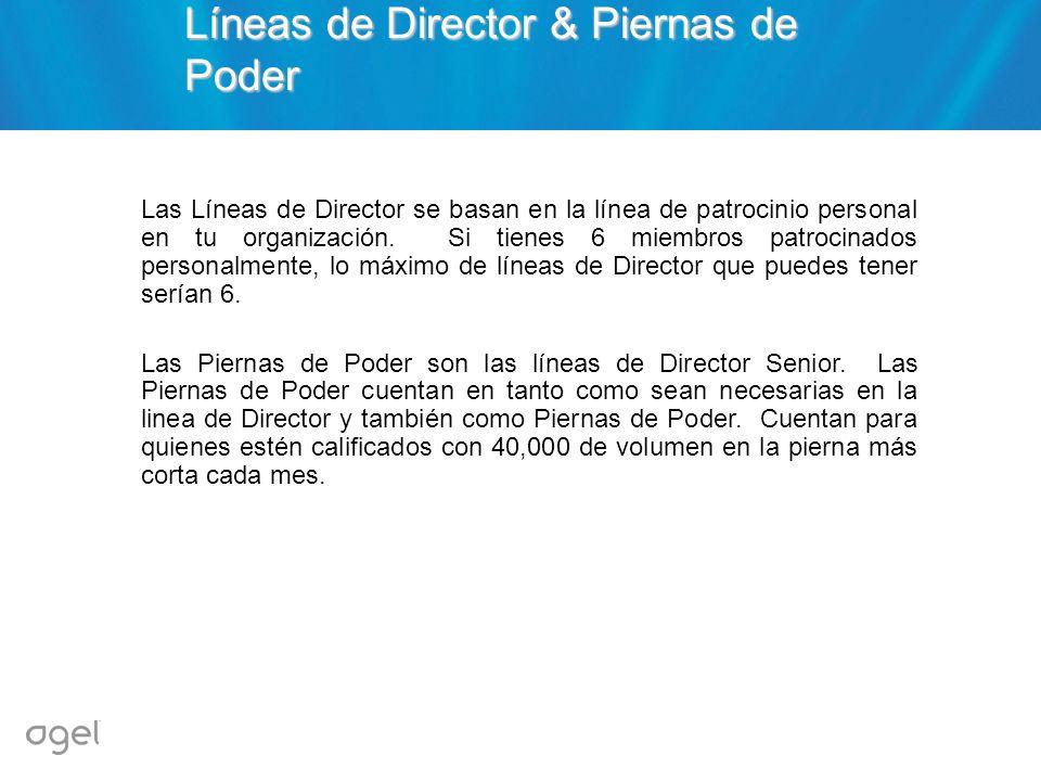 Líneas de Director & Piernas de Poder