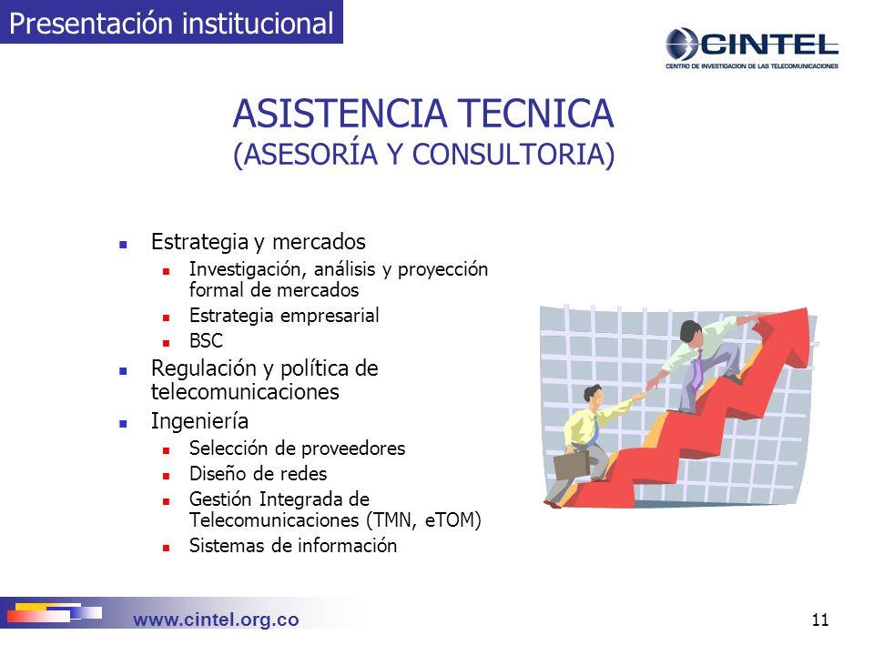 ASISTENCIA TECNICA (ASESORÍA Y CONSULTORIA)