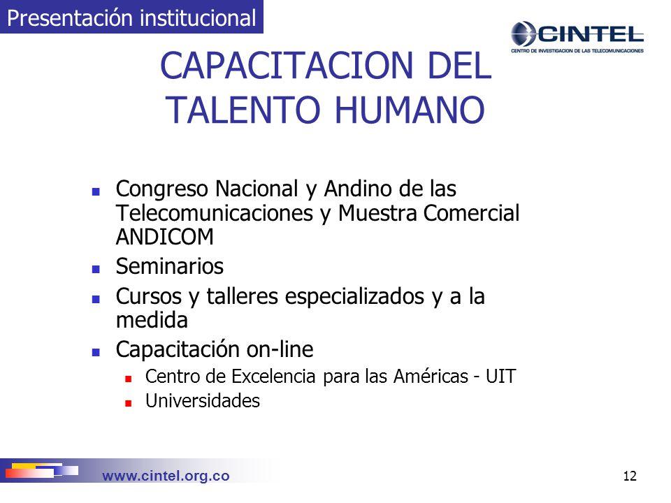 CAPACITACION DEL TALENTO HUMANO