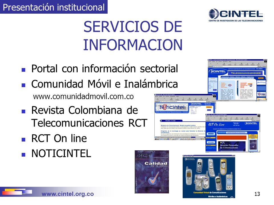 SERVICIOS DE INFORMACION