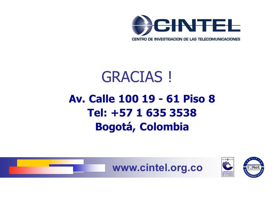 Av. Calle 100 19 - 61 Piso 8 Tel: +57 1 635 3538 Bogotá, Colombia