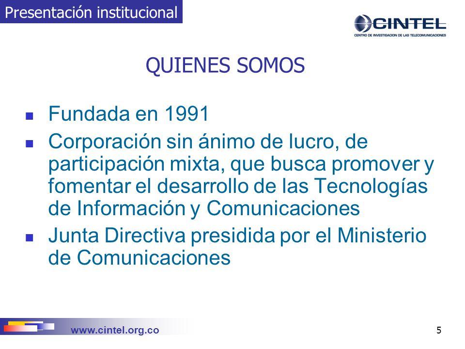 Junta Directiva presidida por el Ministerio de Comunicaciones