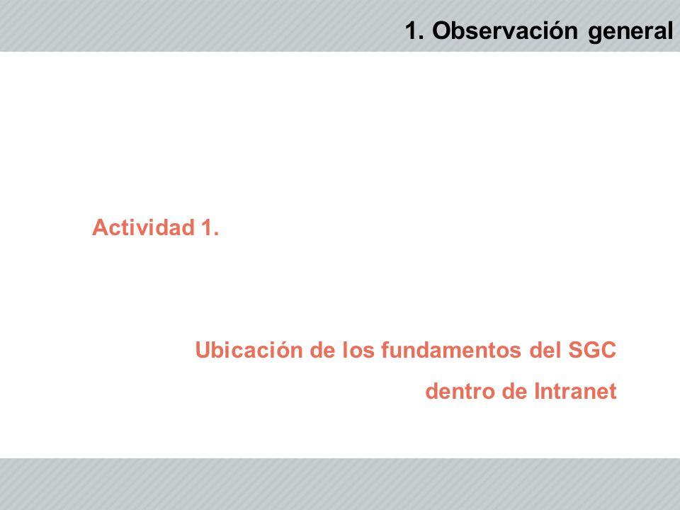 1. Observación general Actividad 1.