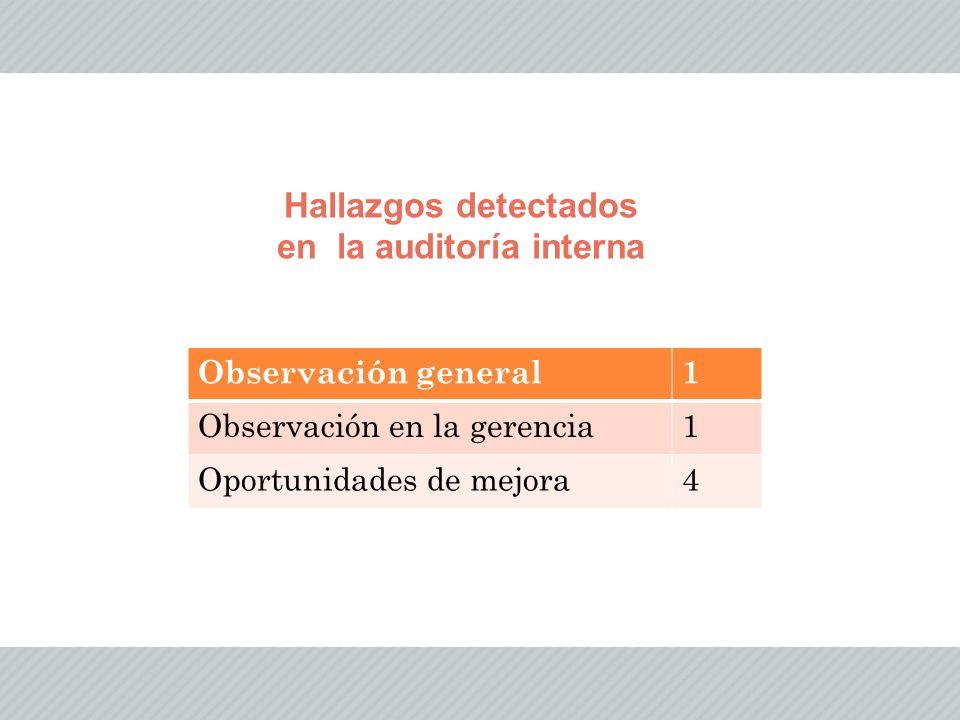 en la auditoría interna
