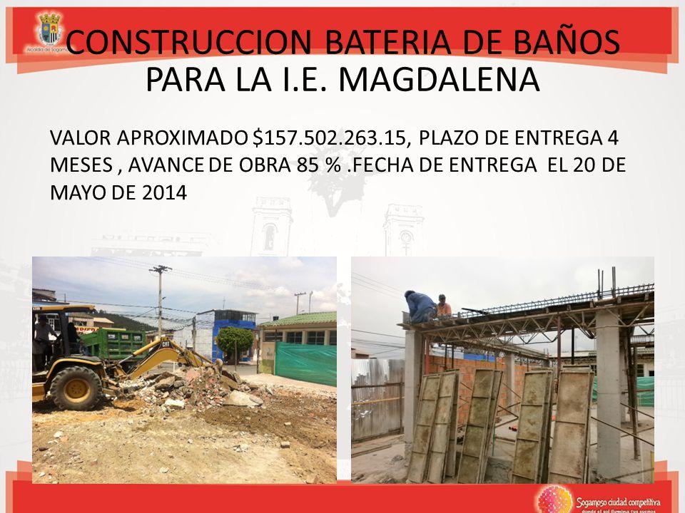 CONSTRUCCION BATERIA DE BAÑOS PARA LA I.E. MAGDALENA