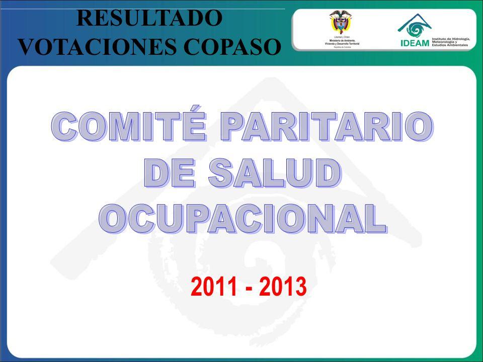 2011 - 2013 COMITÉ PARITARIO DE SALUD OCUPACIONAL