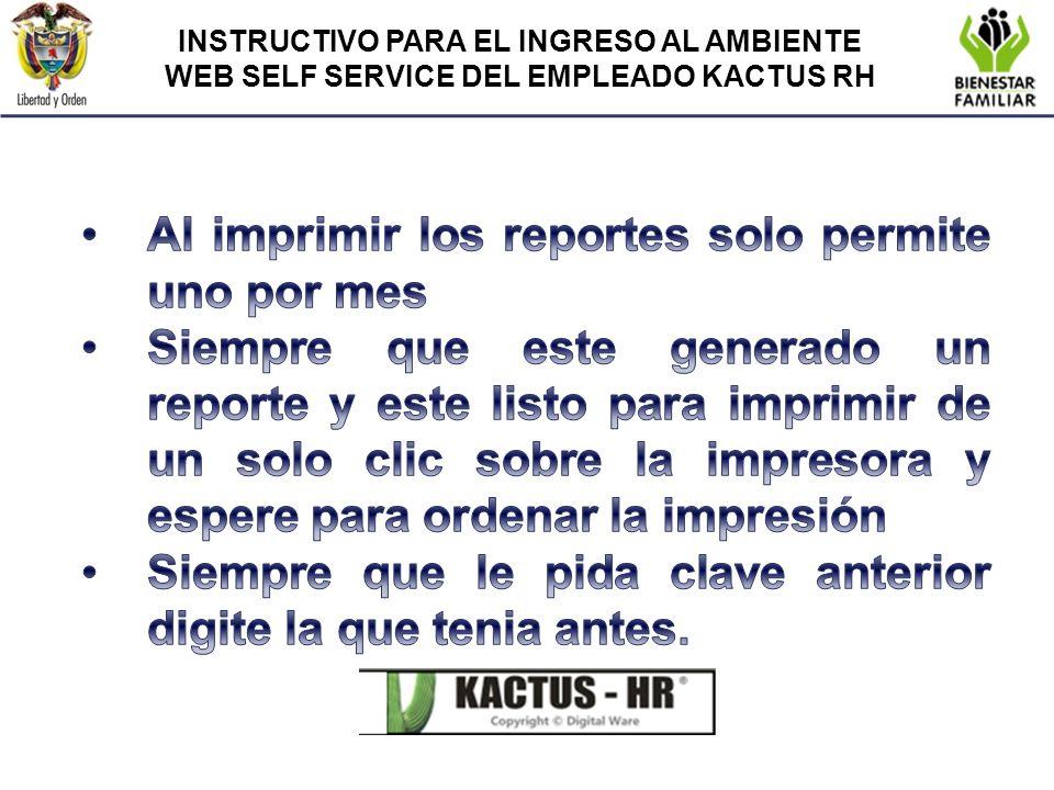 Al imprimir los reportes solo permite uno por mes