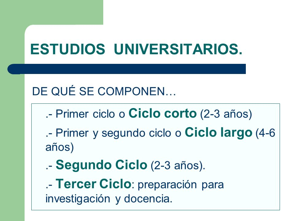 ESTUDIOS UNIVERSITARIOS.