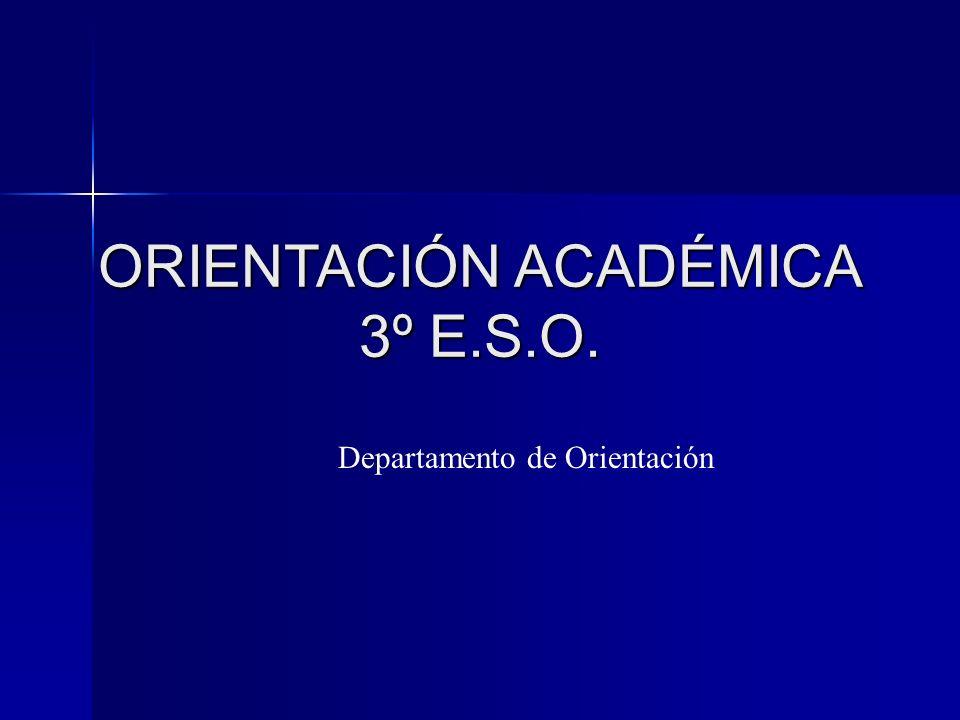 ORIENTACIÓN ACADÉMICA 3º E.S.O.