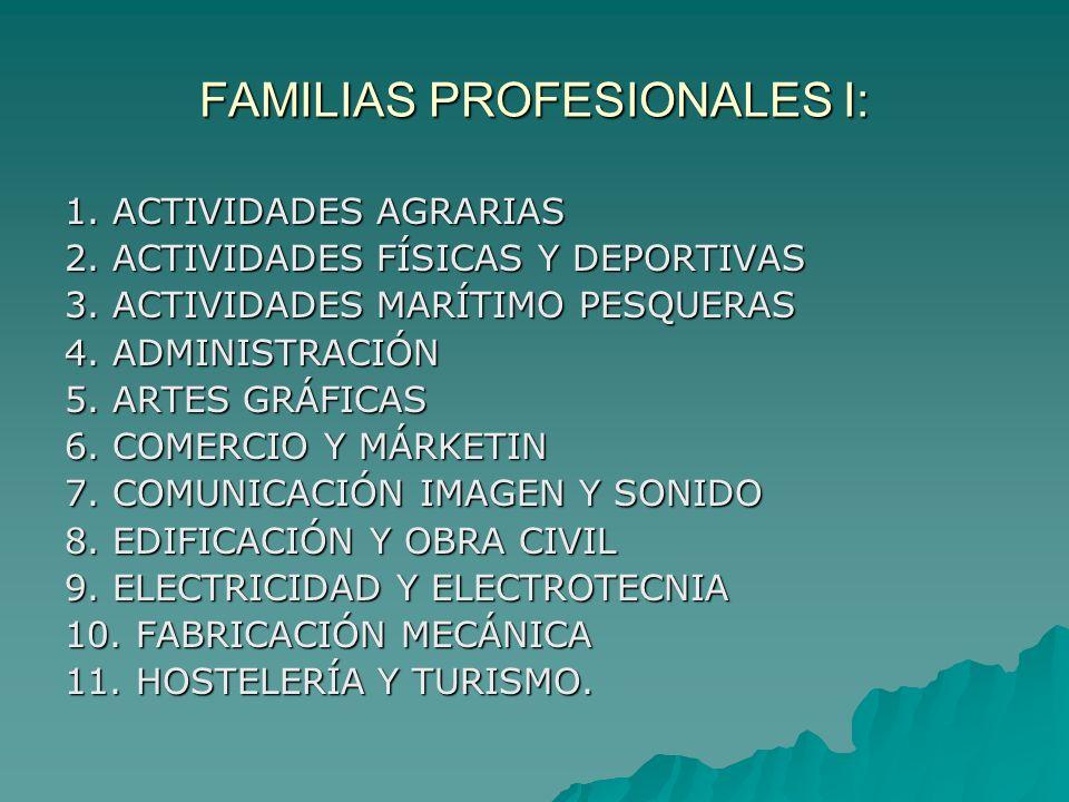 FAMILIAS PROFESIONALES I: