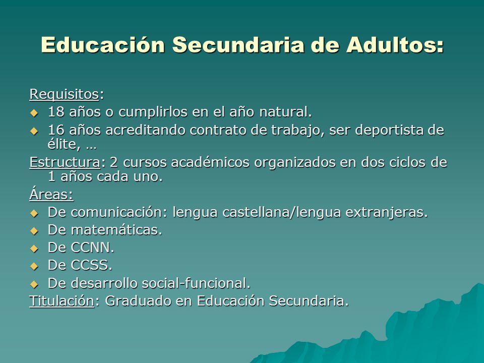 Educación Secundaria de Adultos: