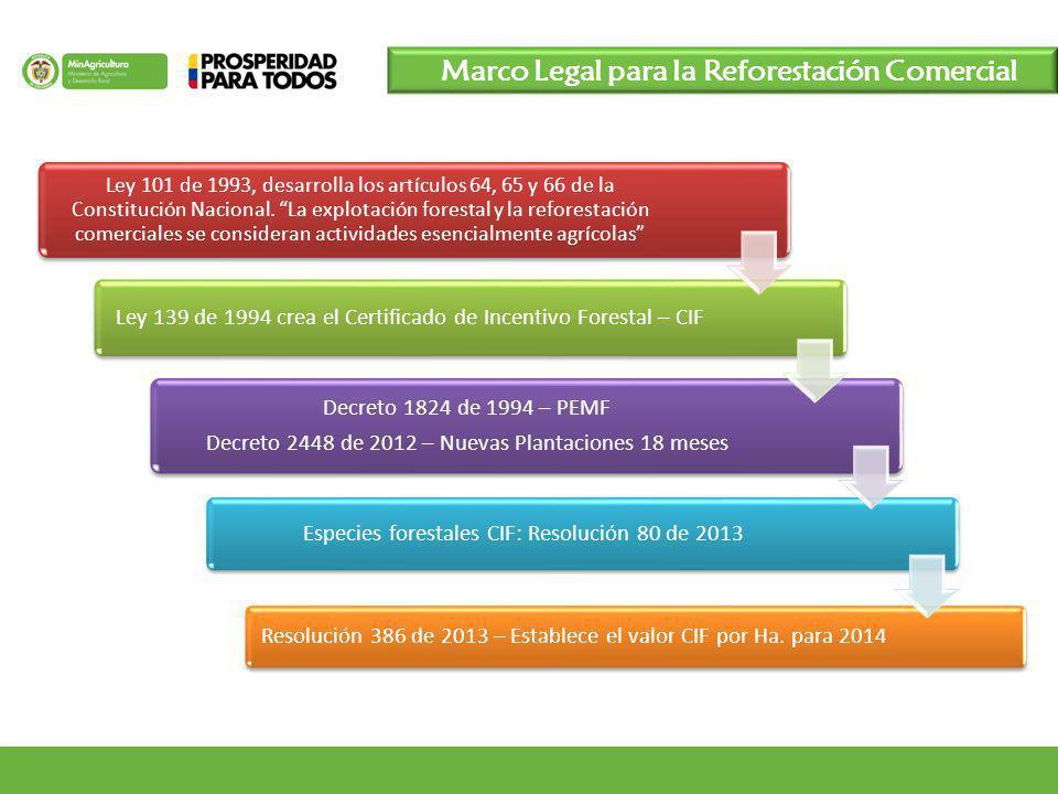 Marco Legal para la Reforestación Comercial