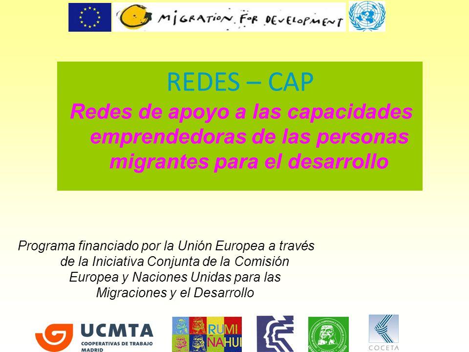 REDES – CAPRedes de apoyo a las capacidades emprendedoras de las personas migrantes para el desarrollo.
