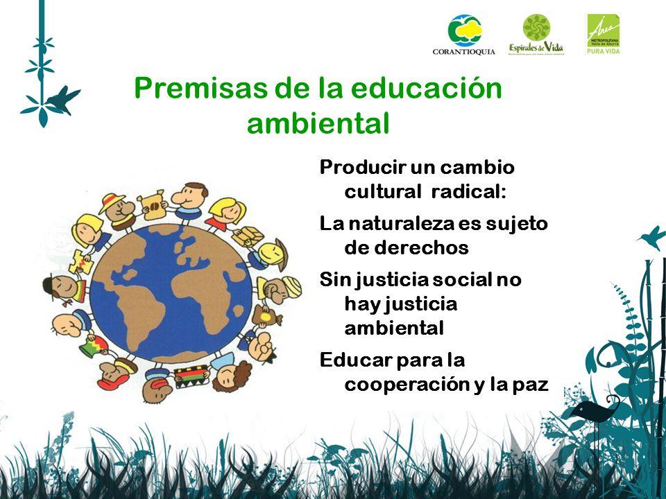 Premisas de la educación ambiental