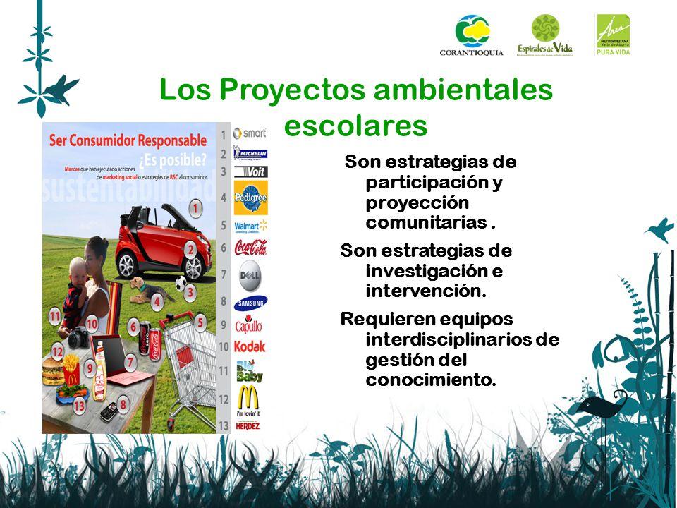 Los Proyectos ambientales escolares