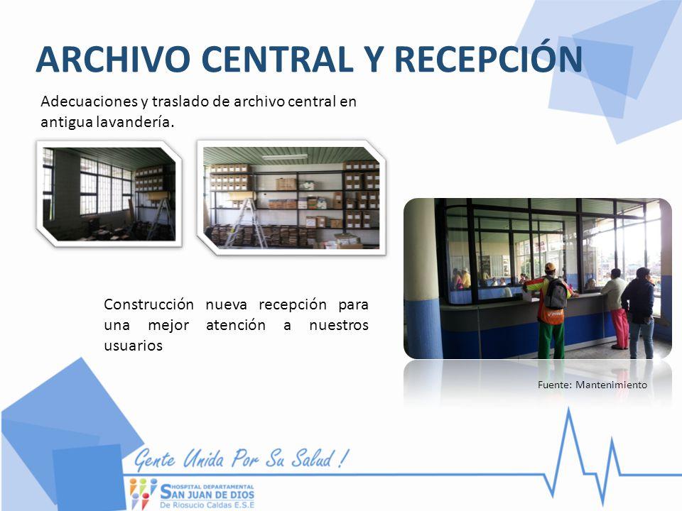 ARCHIVO CENTRAL Y RECEPCIÓN