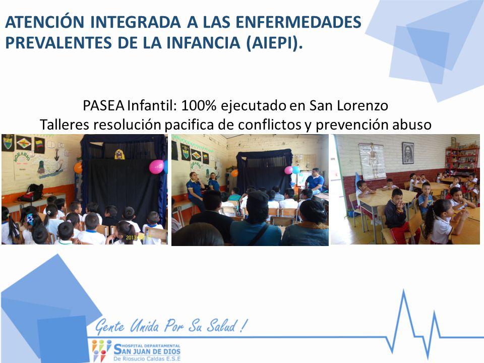 PASEA Infantil: 100% ejecutado en San Lorenzo