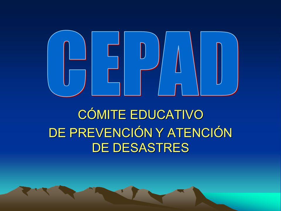 CÓMITE EDUCATIVO DE PREVENCIÓN Y ATENCIÓN DE DESASTRES