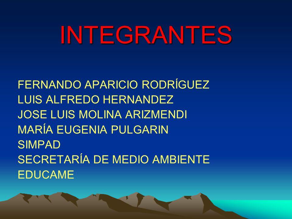INTEGRANTES FERNANDO APARICIO RODRÍGUEZ LUIS ALFREDO HERNANDEZ