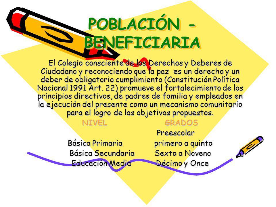 POBLACIÓN - BENEFICIARIA