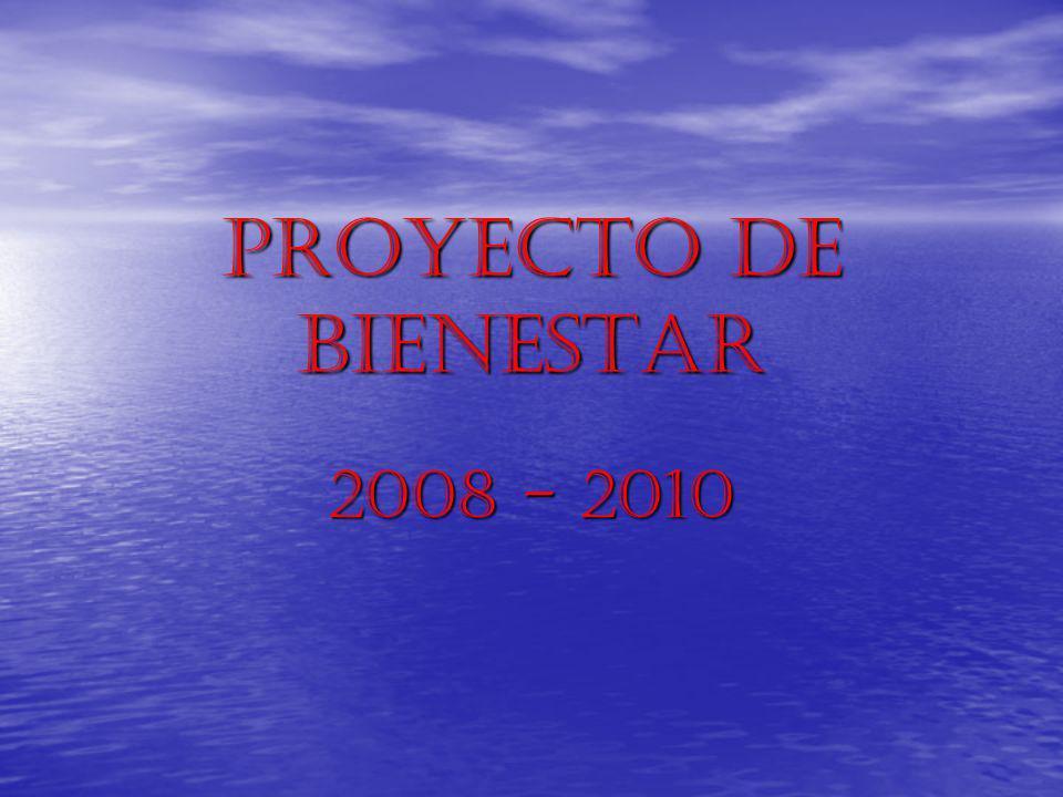 PROYECTO DE BIENESTAR 2008 - 2010