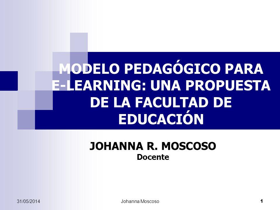 JOHANNA R. MOSCOSO Docente