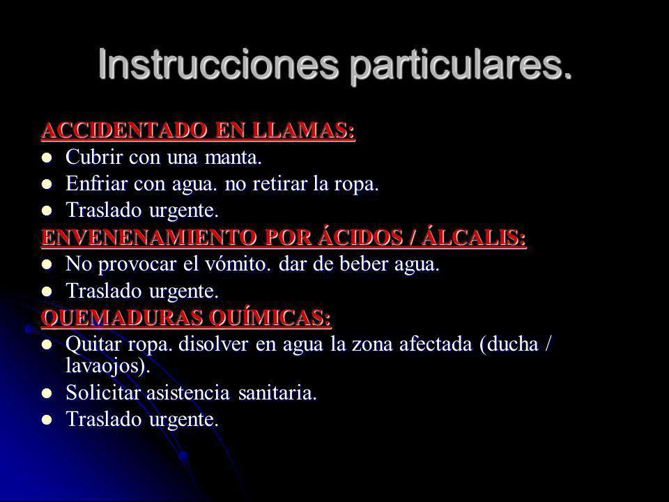 Instrucciones particulares.