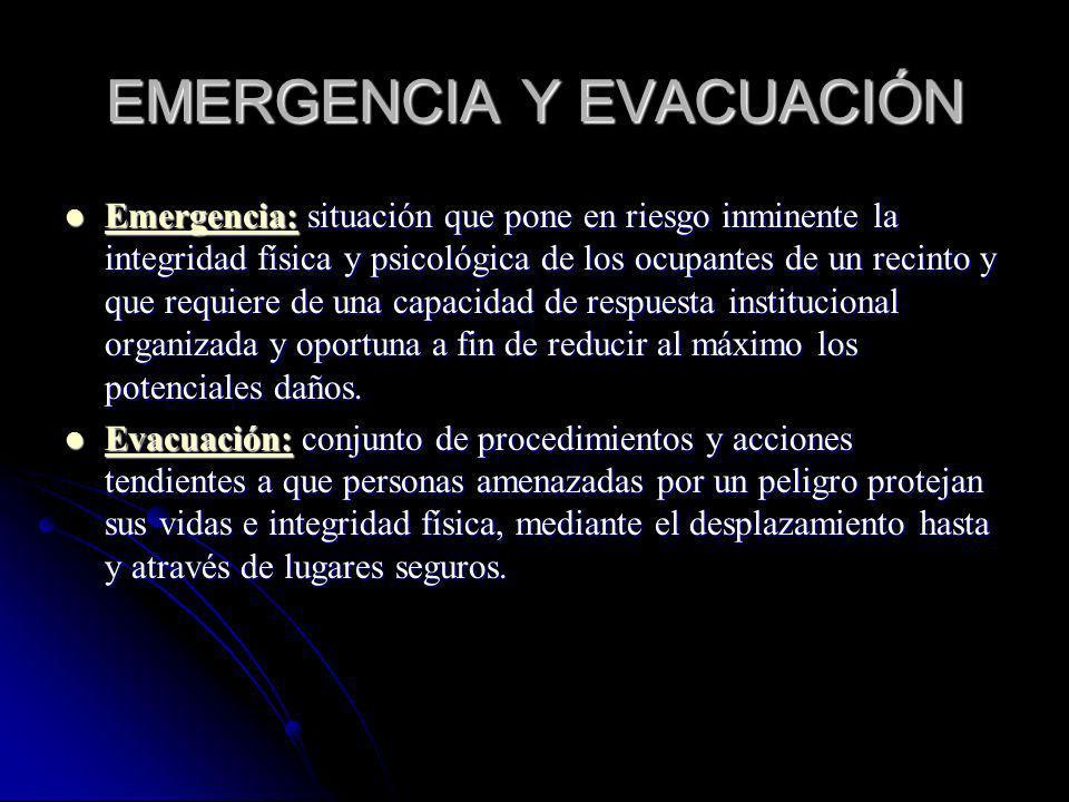 EMERGENCIA Y EVACUACIÓN