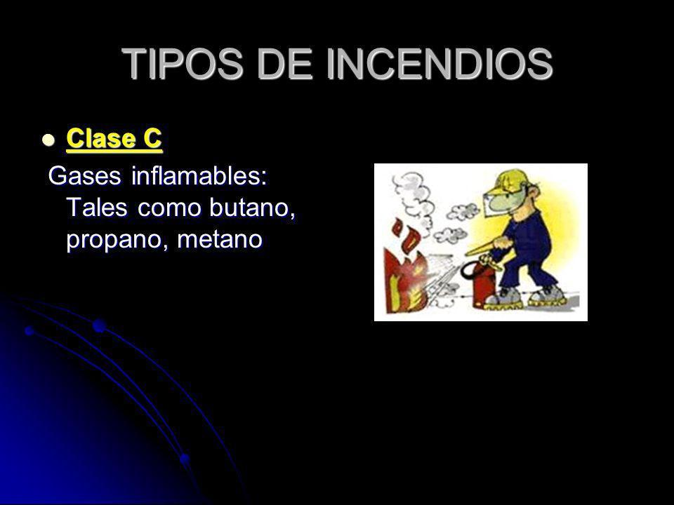 TIPOS DE INCENDIOS Clase C