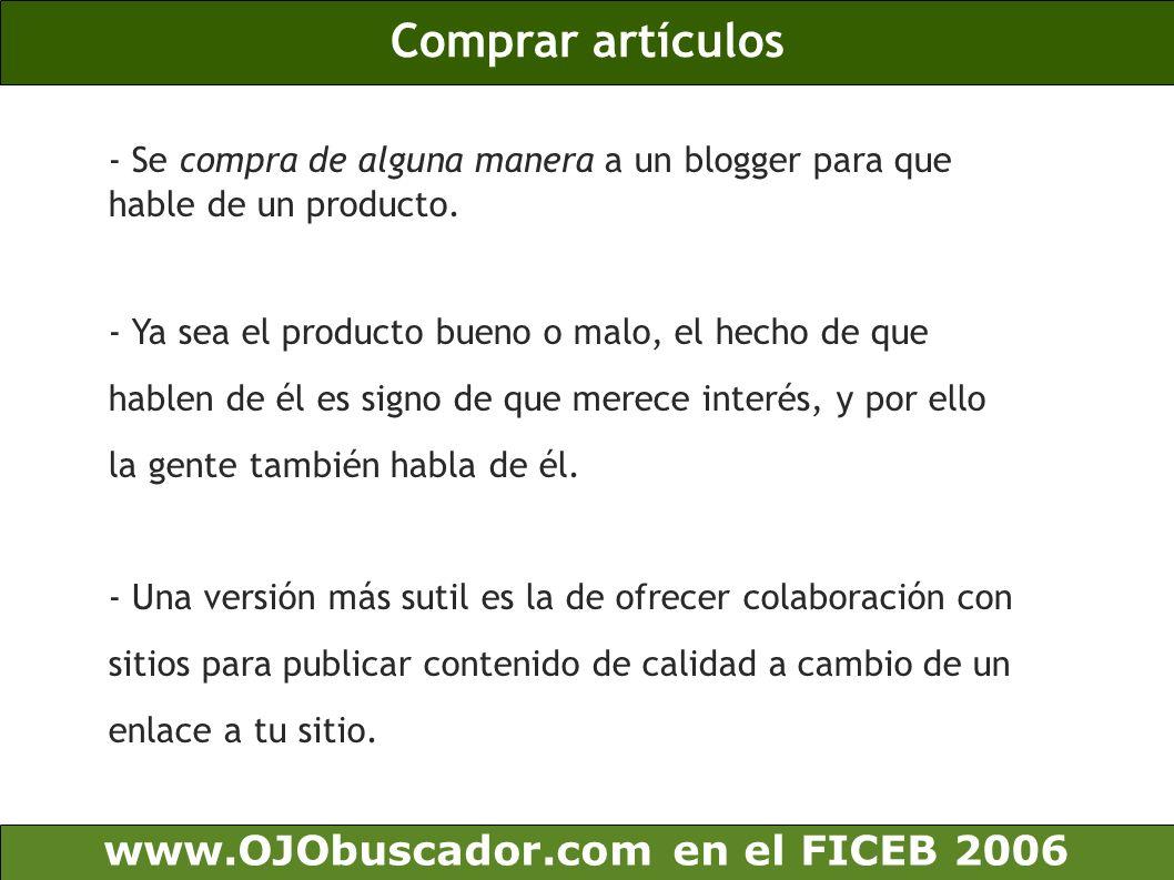 Comprar artículos www.OJObuscador.com en el FICEB 2006