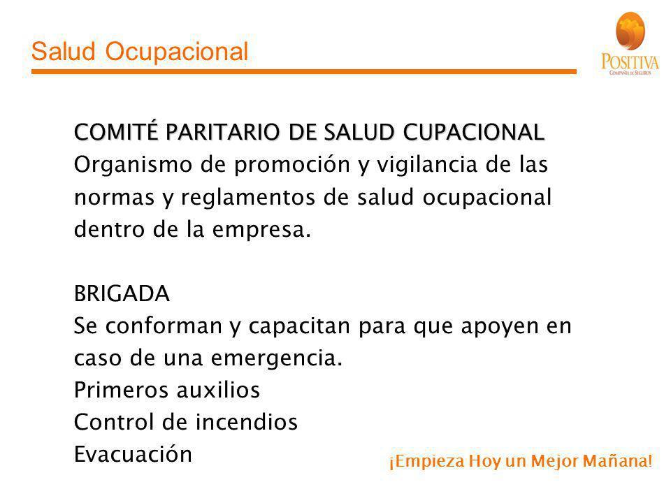 Salud Ocupacional COMITÉ PARITARIO DE SALUD CUPACIONAL