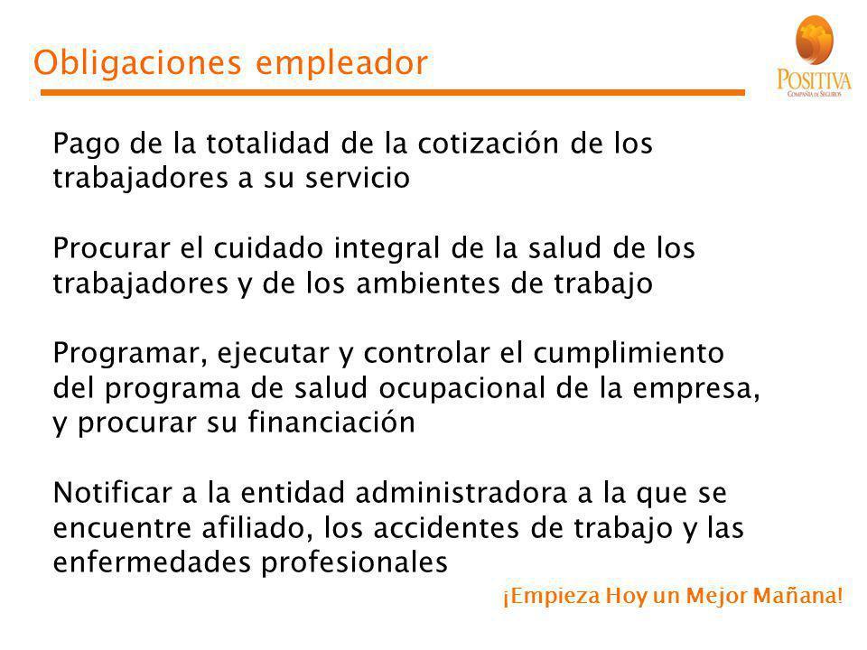Obligaciones empleador