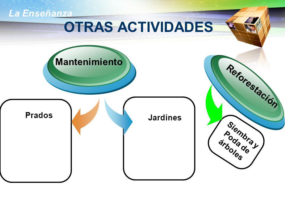 OTRAS ACTIVIDADES Mantenimiento Reforestación Prados Jardines