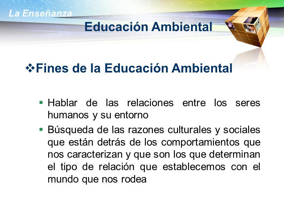 Fines de la Educación Ambiental