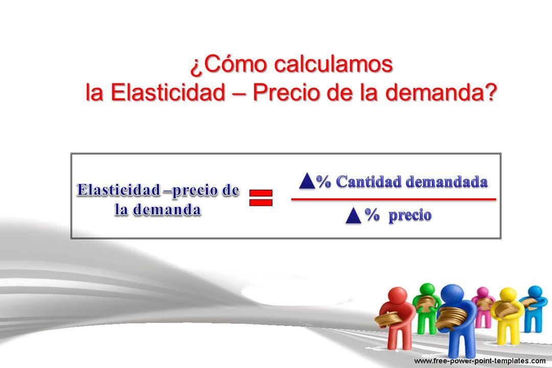 ¿Cómo calculamos la Elasticidad – Precio de la demanda