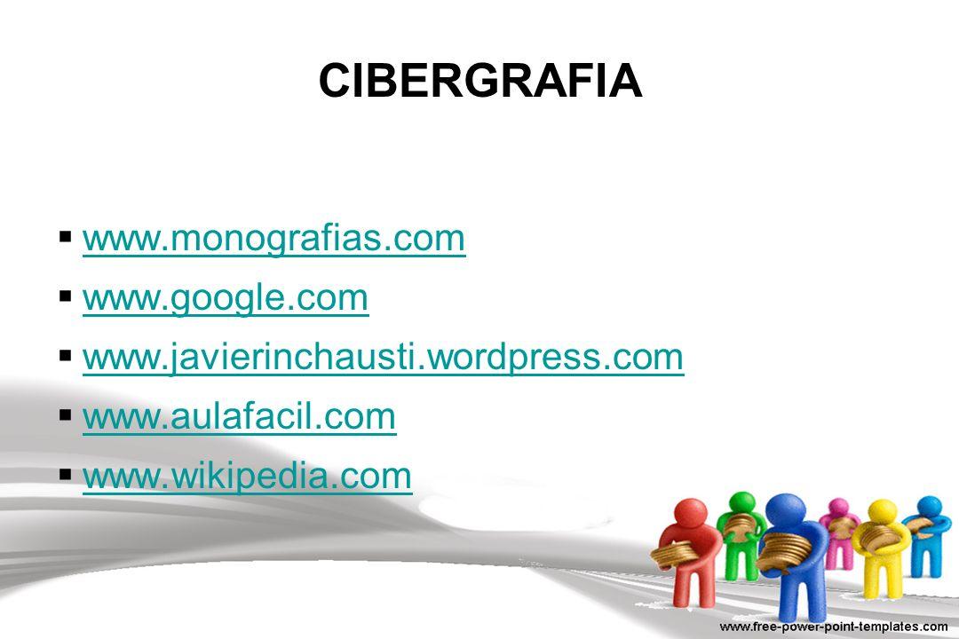 CIBERGRAFIA www.monografias.com www.google.com