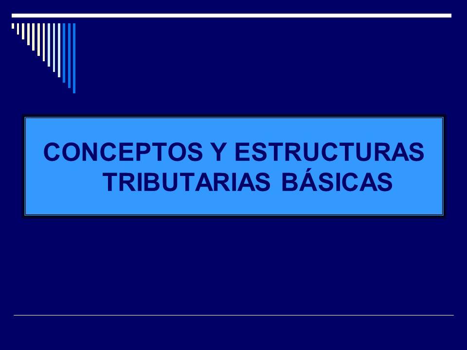 CONCEPTOS Y ESTRUCTURAS TRIBUTARIAS BÁSICAS
