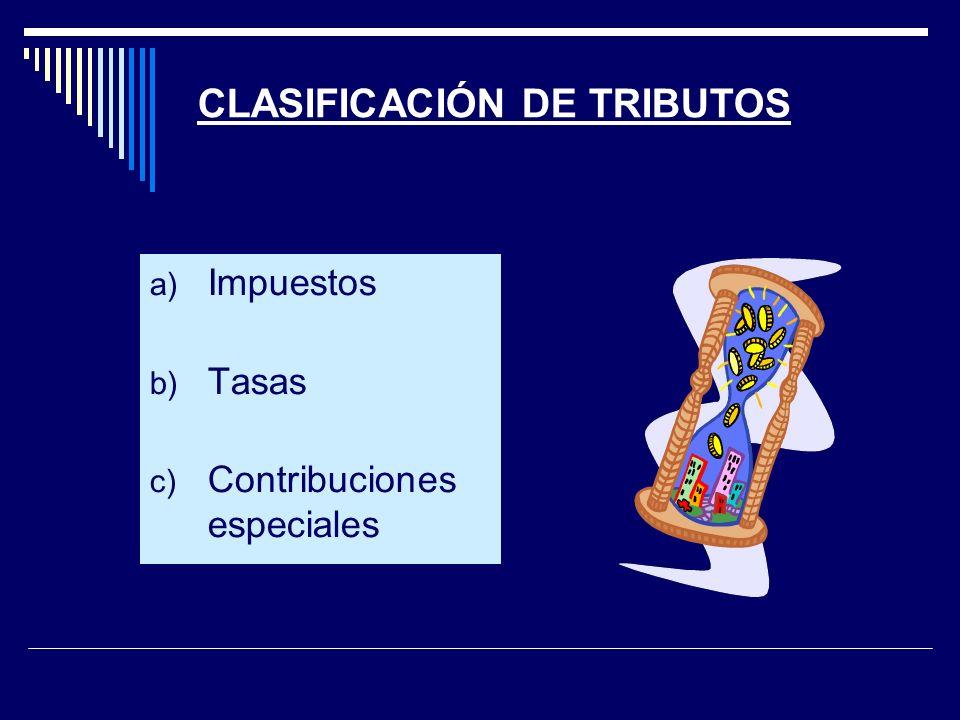 CLASIFICACIÓN DE TRIBUTOS
