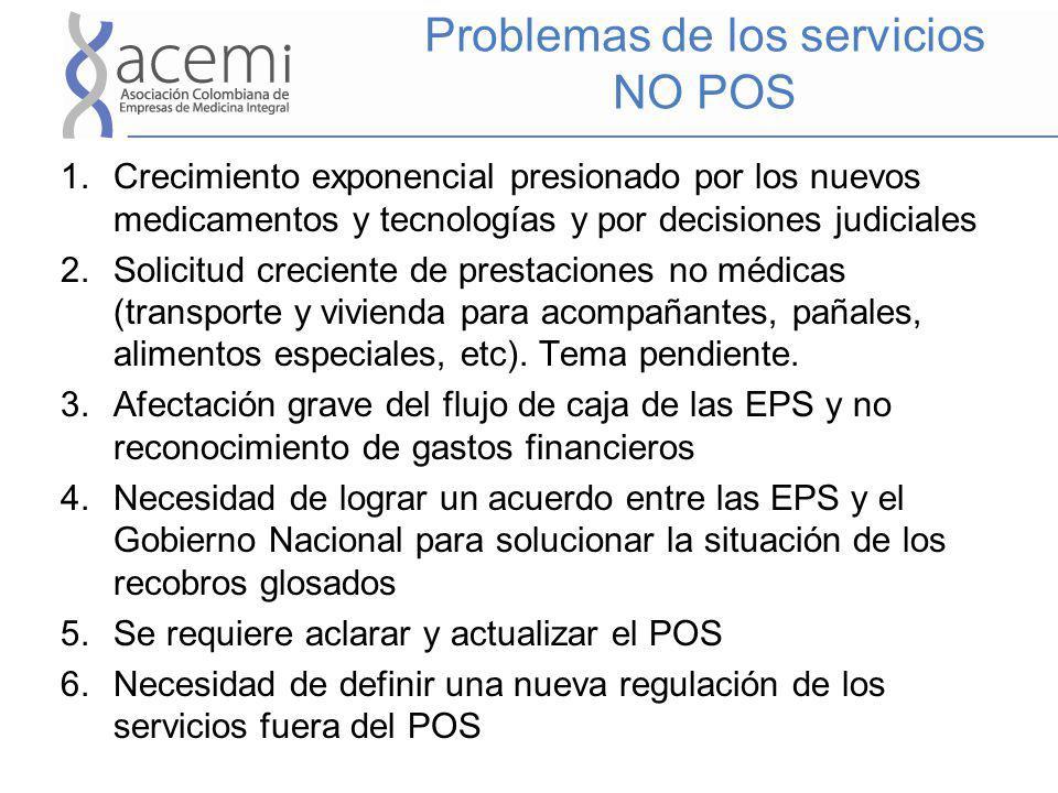 Problemas de los servicios NO POS