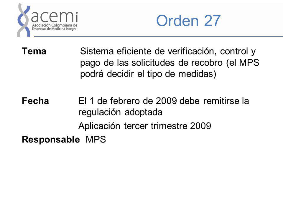Orden 27