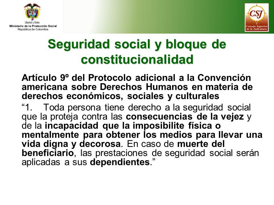 Seguridad social y bloque de constitucionalidad