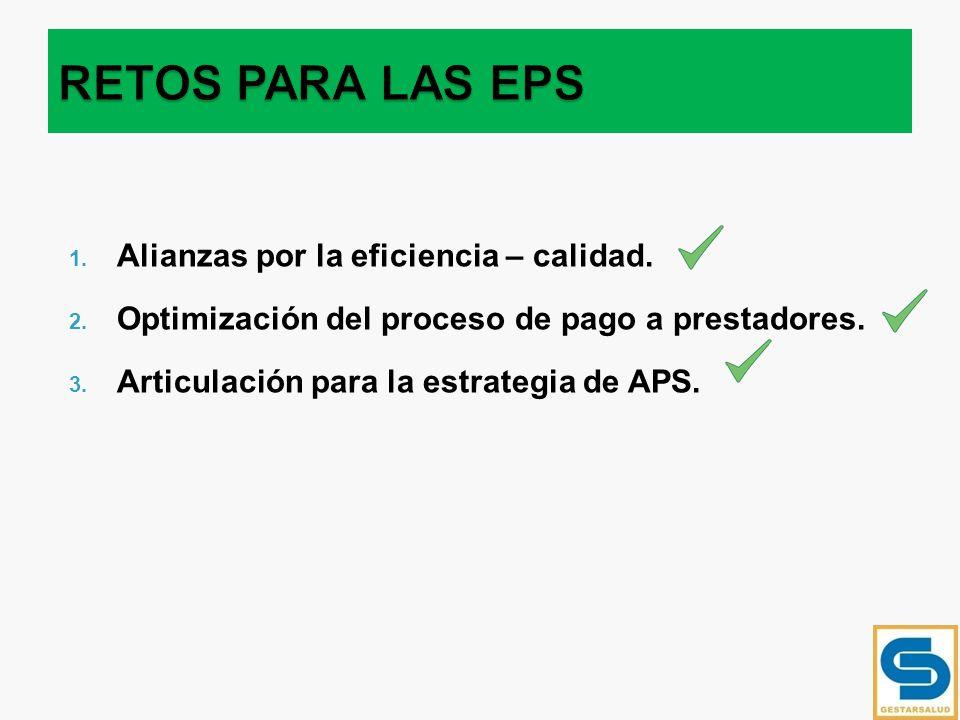 RETOS PARA LAS EPS Alianzas por la eficiencia – calidad.