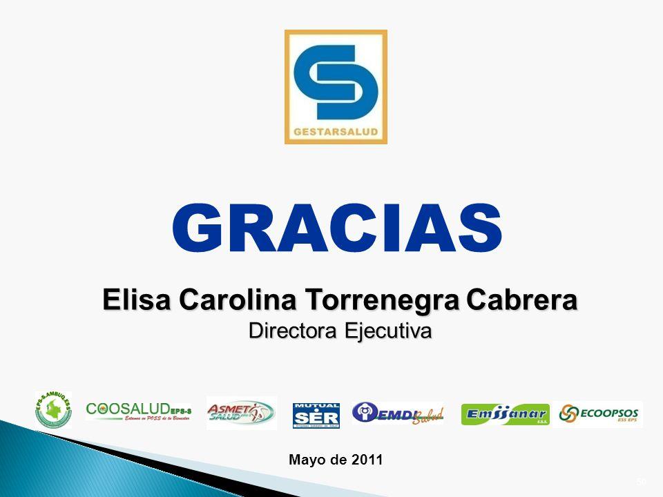 GRACIAS Elisa Carolina Torrenegra Cabrera Directora Ejecutiva 50