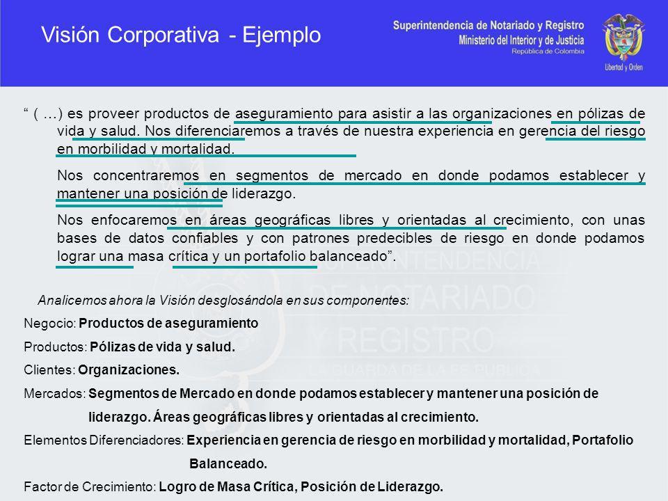 Visión Corporativa - Ejemplo